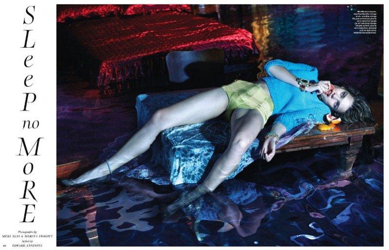 Natalia Vodianova w sesji dla W Magazine