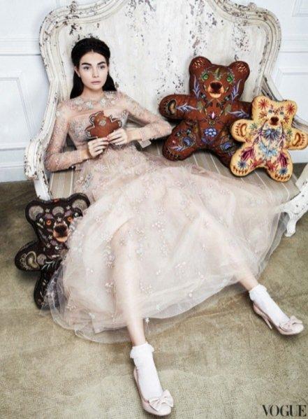 Antonina Vasylchenko w edytorialu Vogue Russia