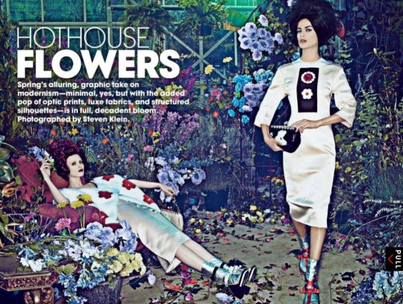 Hothouse Flowers - Carolyn Murphy i Karen Elson w stycnziowym Vogue US