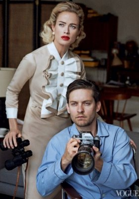 CAROLYN MURPHY I TOBEY MAGUIRE W RETRO SESJI DLA VOGUE US