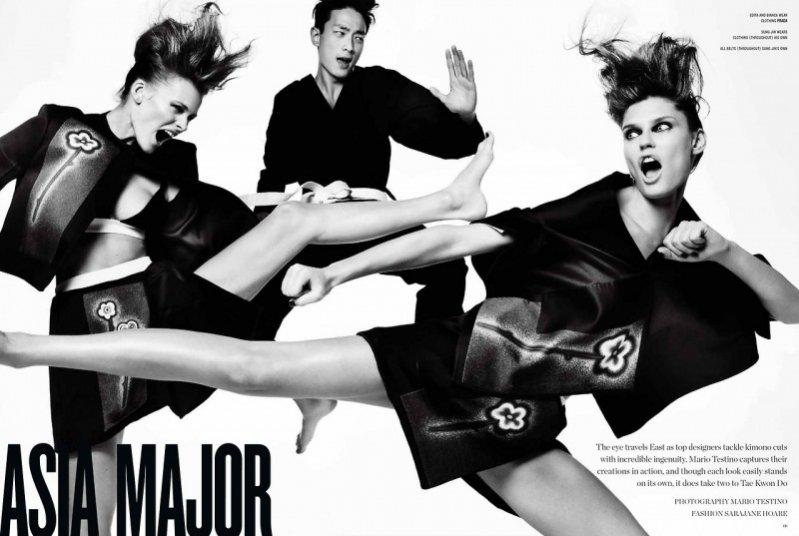 Asia Major - azjatycki edytorial w wiosennym V Magazine