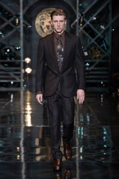 1. Versace - męska kolekcja jesień zima 2014/2015