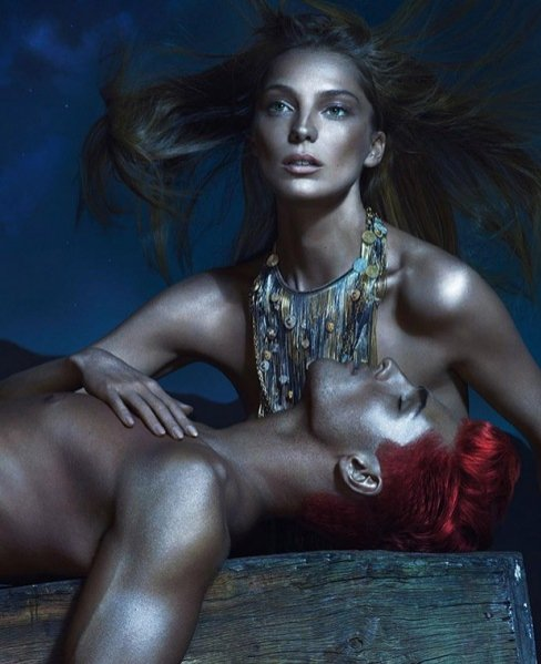 Daria Werbowy w kampanii Versace wiosna lato 2013