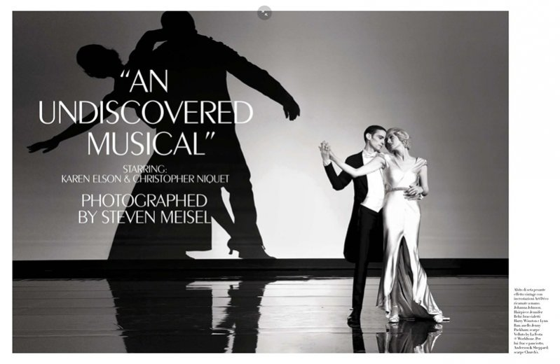 "1. Sesja ""An Undiscovered Musical"" w kwietniowym Vogue Italia"