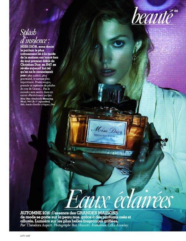 Anja Rubik dla Vogue Paris - perfumy Dior