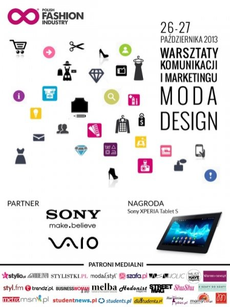 plakat Polish Fashion Industry - Warsztaty Komunikacji i Marketingu Mody i Designu