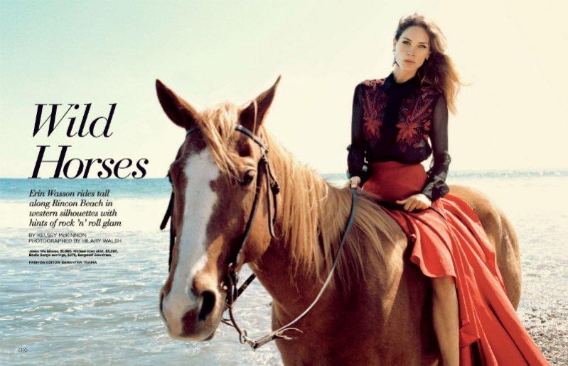 Erin Wasson w sesji Wild Horses