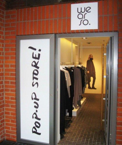Pop-up store wearso.organic w Starym Browarze
