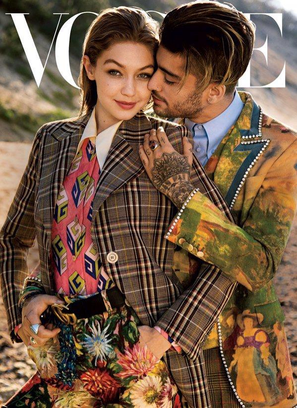 Największe wpadki w branży mody 2017. Gigi Hadid i Zayn Malik na okładce magazynu Vogue poświęconej