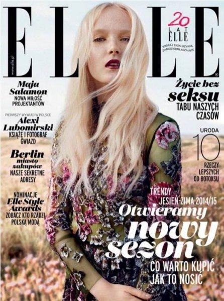 Maja Salamon na okładce Elle Polska