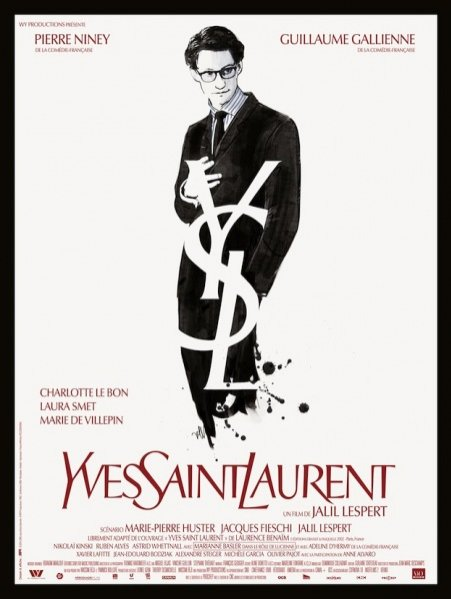 """plakat filmowy """"Yves Saint Laurent"""" w reżyserii Jalila Lesperta"""