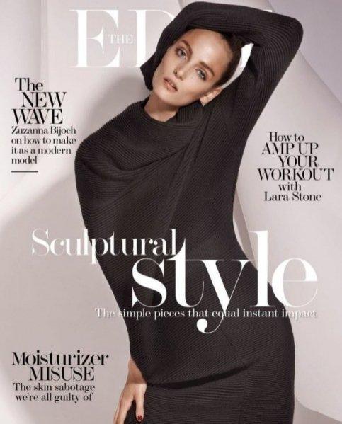 """1. Zuza Bijoch w okładkowej sesji """"A very modern model"""" dla magazynu The Edit"""