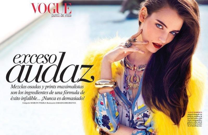 Zuza Bijoch w obiektywie Marcina Tyszki dla Vogue Mexico lipiec 2013