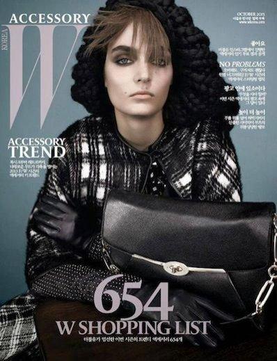 Zuzanna Bijoch dla W Magazine Korea Accessory Suplement październik 2013