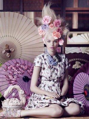 DAPHNE GROENEVELD W SESJI DLA VOGUE JAPAN