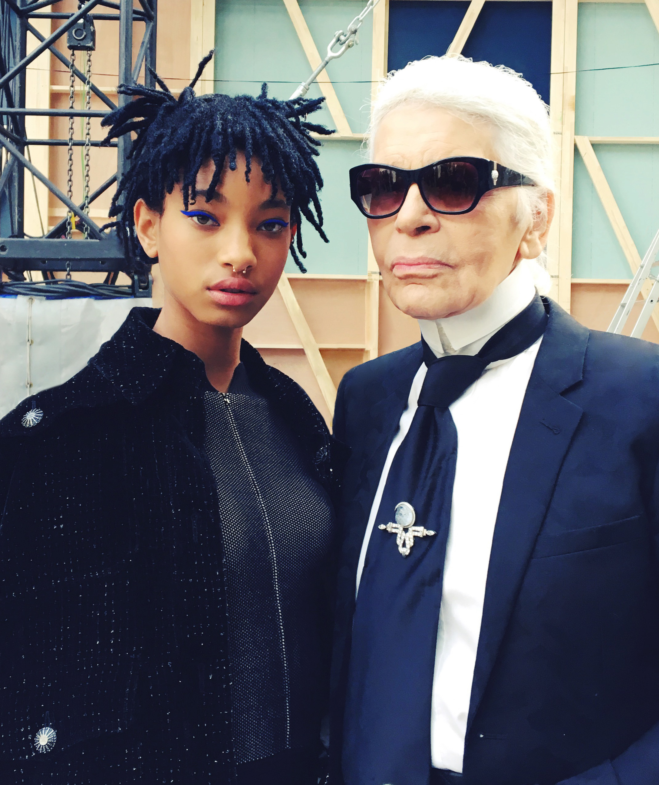 Willow Smith i Karl Lagerfeld