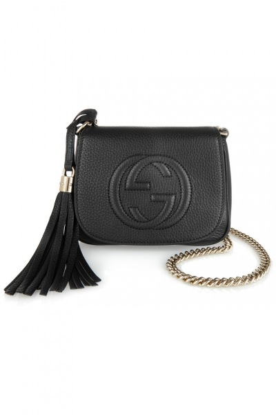 1. Gucci, Soho small textured-leather shoulder bag, cena ok. 3150 zł