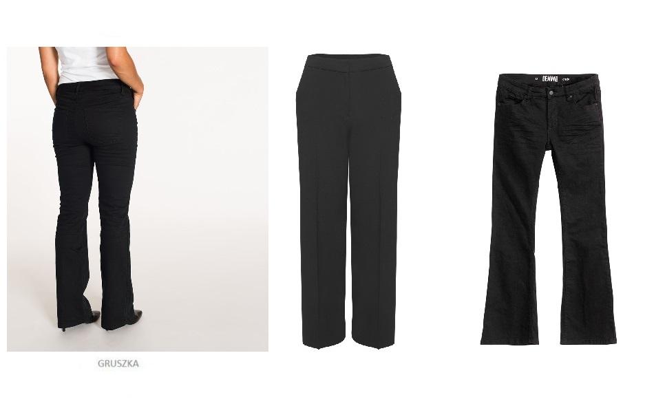 00011a2ec16 Przy figurze gruszki należy przede wszystkim wyszczuplić uda i biodra, a  więc wybierać klasyczne kroje spodni o prostych albo rozszerzanych  nogawkach ...
