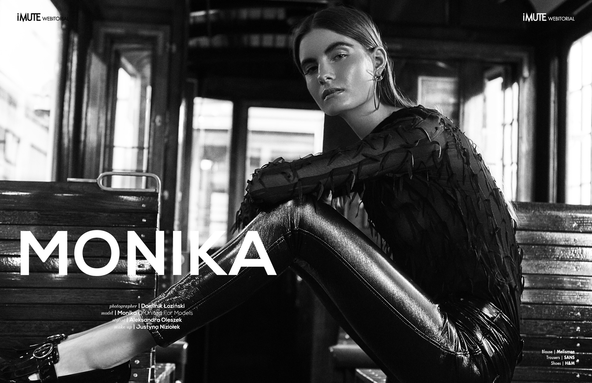 Monika Rostek z United for Models w edytorialu dla Imute Magazine