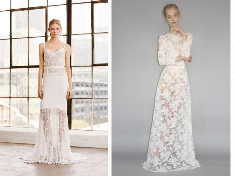 Koronkowe Suknie ślubne Trendy Wiosna Lato 2019 Lamode