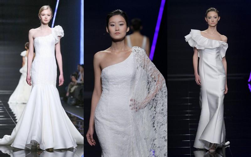 1e590d455d Gorącym trendem od kilku sezonów jest suknia o zróżnicowanej długości  z  tyłu długa