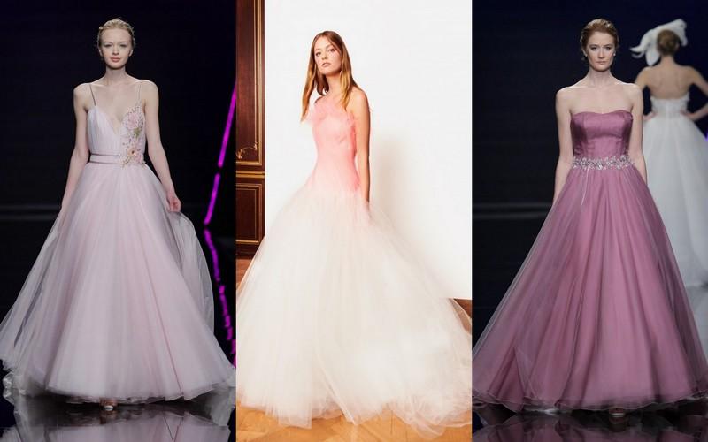 ae70ae5f3a Kolorowe suknie ślubne  1. Blumarine 2. Oscar de la Renta 3. Bellantuono  (fot. East News + materiały prasowe)