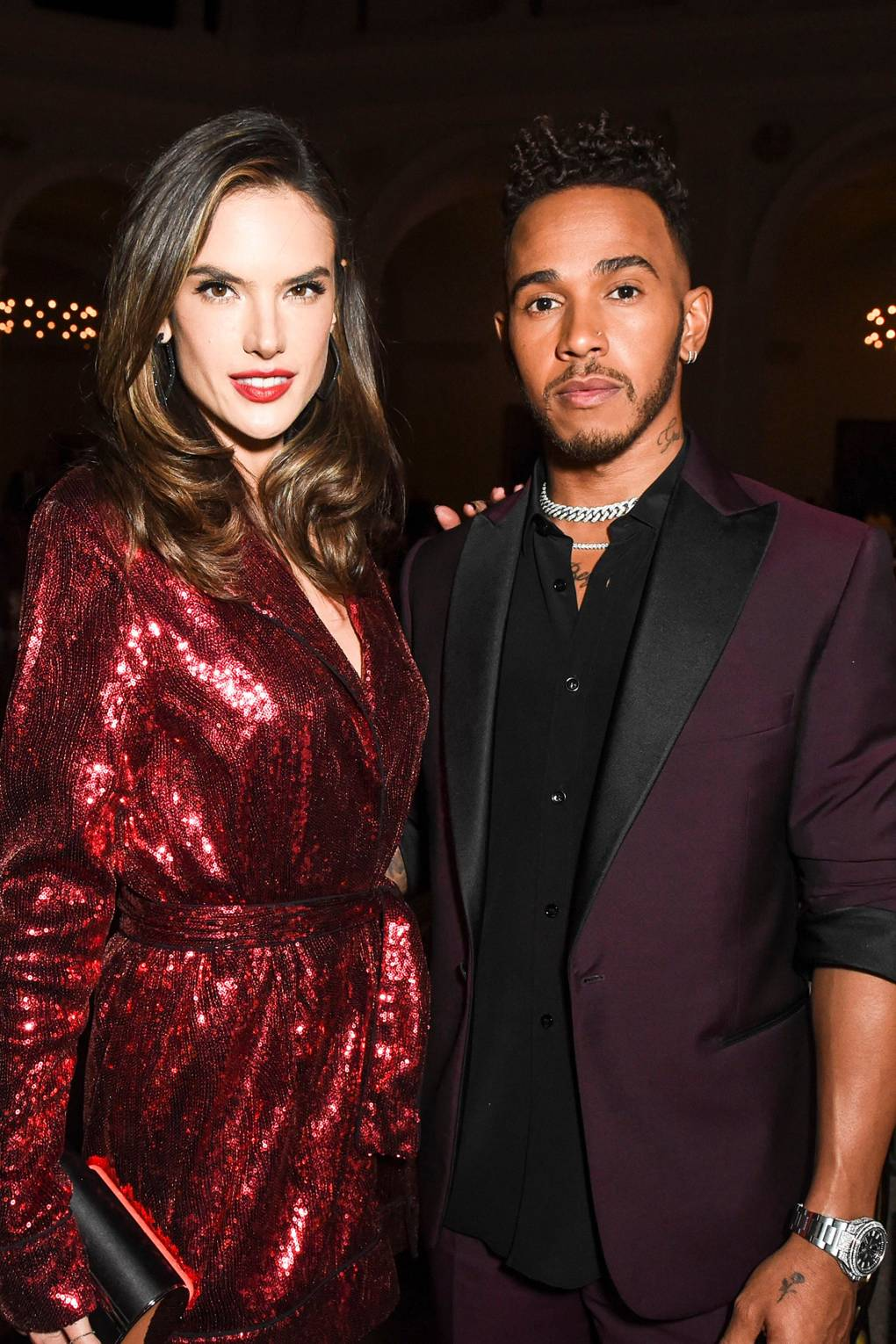 CFDA Awards 2018 (after party) - Alessandra Ambrosio i Lewis Hamilton