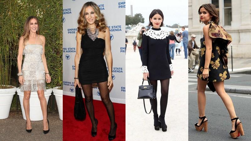 8c201eff99 Sukienki dla niskich kobiet  1. i 2. Sarah Jessica Parker 3. i 4. Miroslava  Duma