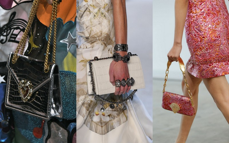 a4d057d70cc0b Torebki na łańcuszku z kolekcji SS19: Dolce & Gabbana, Alexander McQueen, Michael  Kors (fot. East News)