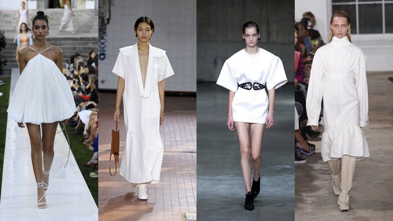 1ef6d603b40991 Białe sukienki z kolekcji SS19: Jacquemus, Jil Sander, Christopher Kane,  Proenza Schouler (fot. East News)