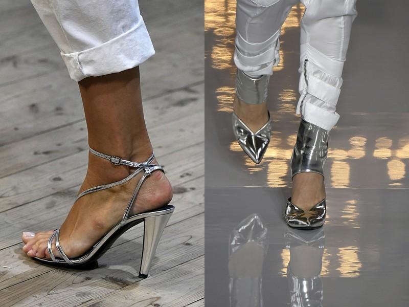 6c990cada7cb2 W takim wydaniu metaliczne buty widzieliśmy na pokazach m.in. Balmain,  Isabel Marant i Victorii Beckham.