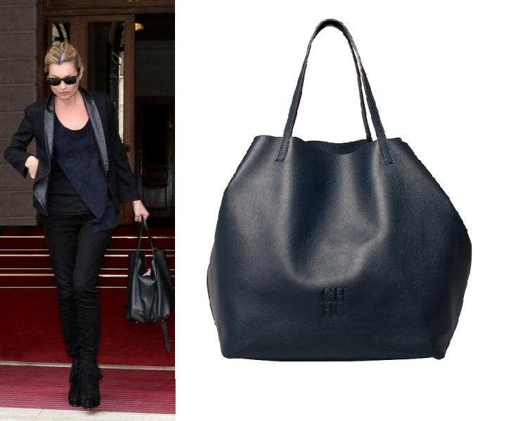 6547ec5171b21 fot. materiały prasowe/ Kate Moss i jej nowa torba Matryoshka CH Carolina  Herrera
