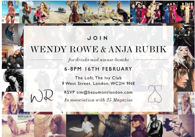 Wendy Rowe & Anja Rubik cocktail party