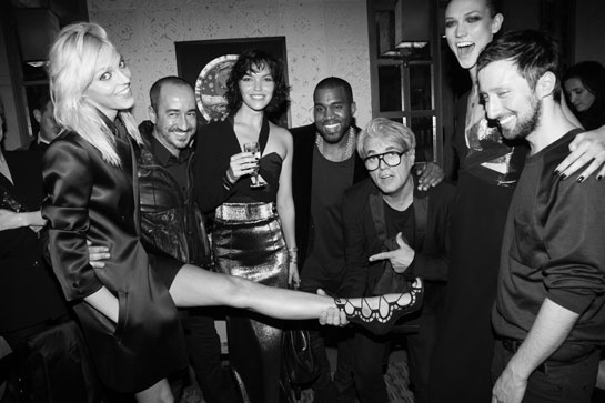 Anja Rubik, Arizona Muse, Kanye West, Giuseppe Zanotti, Karlie Kloss, Anthony Vacarello