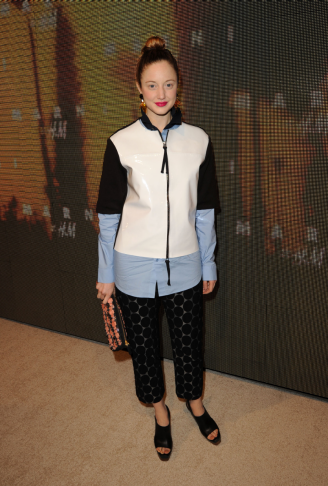 Andrea Riseborough na imprezie Marni dla H&M w Los Angeles