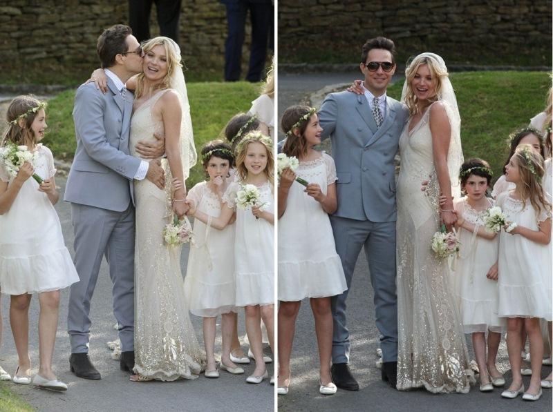 ślub Kate Moss Top Modelka I Rockmen Powiedzieli Sobie Tak Lamode