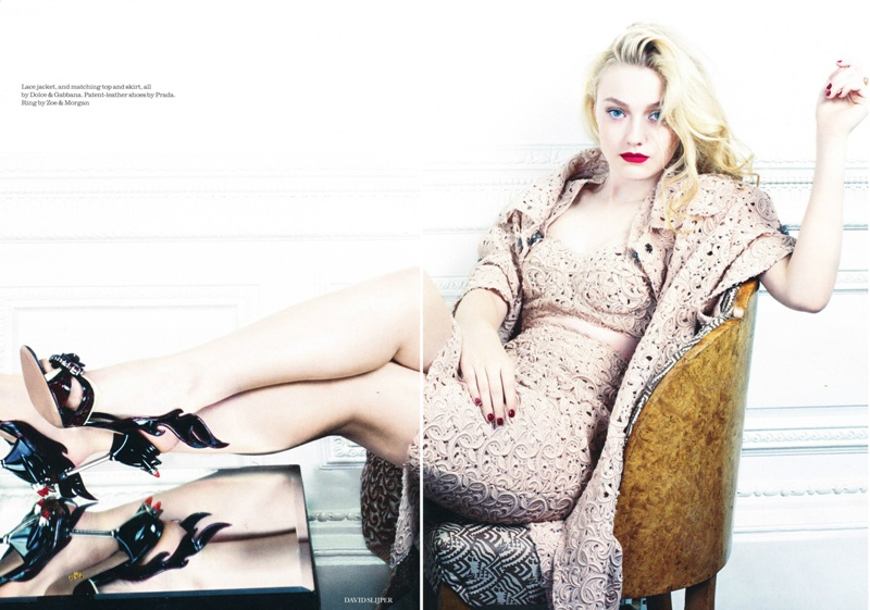 Dakota Fanning w Elle UK