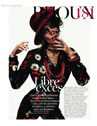 Zuzanna Bijoch w sesji Libre exces w Vogue Paris