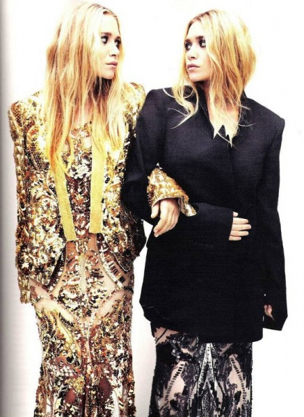 Mary-Kate i Ashley Olsen w Elle UK Kwiecień 2012