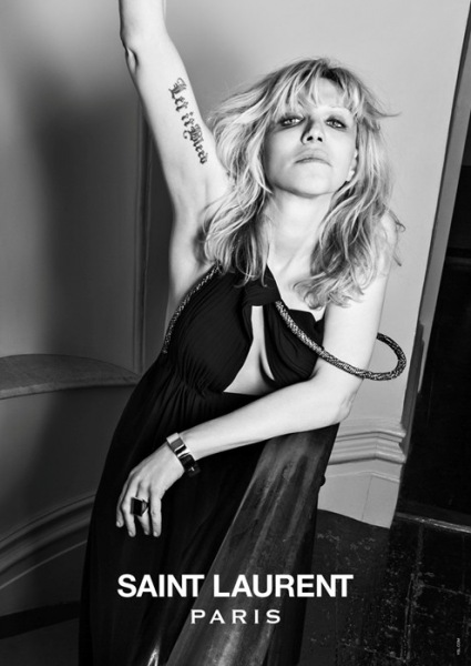 Courtney Love Saint Laurent Paris