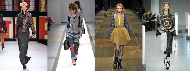 Damskie trendy jesień zima 2013/2014: Jean Paul Gaultier, Junya Watanabe, Saint Laurent Paris,Rodarte