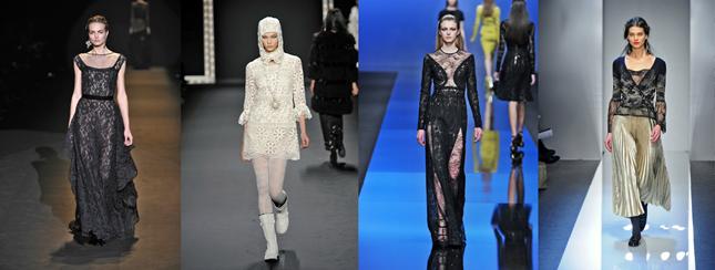 Damskie trendy jesień zima 2013/2014:Alberta Ferretti, Anna Sui, Elie Saab,Roccobarocco