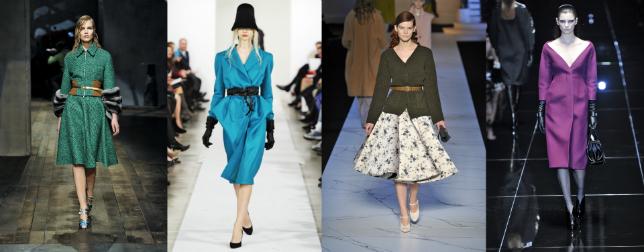 Damskie trendy jesień zima 2013/2014: Prada, Oscar de la Renta, Rochas, Gucci