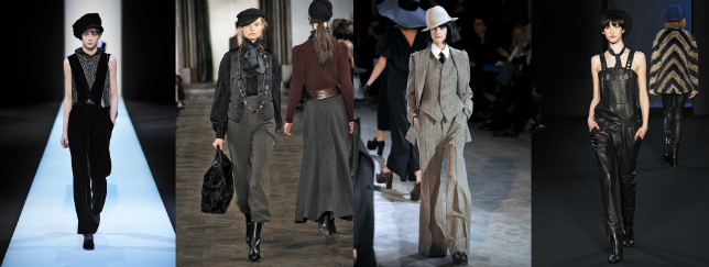 Damskie trendy jesień zima 2013/2014: Giorgio Armani, Ralph Lauren, Yohji Yamamoto, Zadig & Voltaire